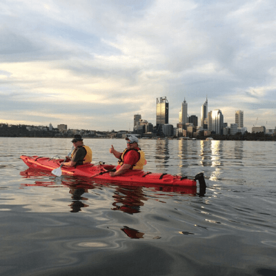Kayaking on the Swan River